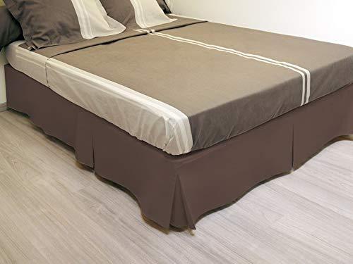 Cache sommier plateau 3 plis 90x190 cm chocolat