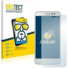 BROTECT AirGlass Protector Pantalla Cristal Flexible Transparente para Lenovo Golden Warrior A8 A806 Protector Cristal Vidrio - Extra-Duro, Ultra-Ligero, Ultra-Claro