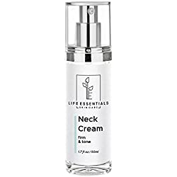 Neck Firming and Tightening Cream for Sagging Skin & Wrinkles (2oz Double-Sized Bottle) Anti Aging Lifting Lotion - With Glycolic and Alpha Hydroxy Acid - Boost Cell Renewal & Collagen Production