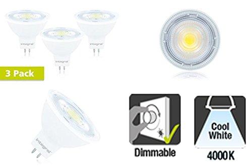 Integral LED-MR16GU5.38.3W (51W) 4000K 700lm dimmbar-3Stück Integral Led
