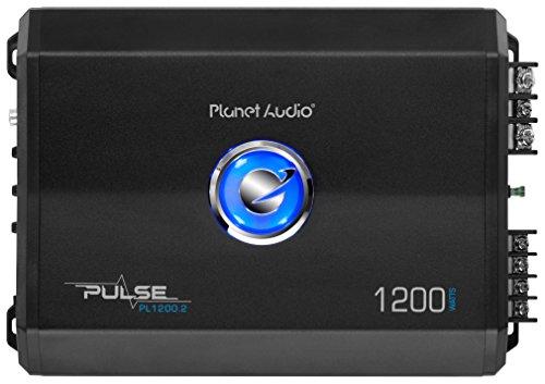 PLANET Audio PL1200.2 2-Kanal-Verstärker mit Subwoofer-Fernbedienung (1200 W) (Planet Audio-verstärker)