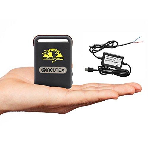 Incutex GPS Tracker TK104 Peilsender Personen und Fahrzeugortung GPS Sender mit KFZ-Ladekabel Autoladekabel Version 2019 (Tk104 Gps-tracker)