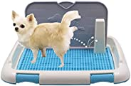 Dog Potty Training Indoor Tray Pad Pet Toilet Restroom for Puppy Small Medium Large Dogs with Protection Wall