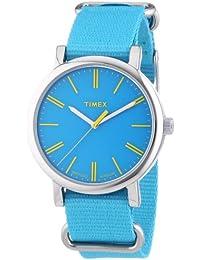 Timex Damen-Armbanduhr Originals Classic Round Analog Quarz Nylon T2P363