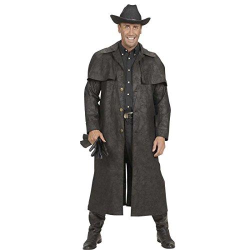 Amakando Western Kostüm Schwarzer Cowboy Mantel M 50 Wilder Westen Herrenkostüm Sheriff Cowboykostüm Rodeo Westernkostüm Revolverheld Cowboymantel Herren (Wilder Westen Revolverheld Kostüm)