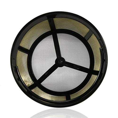 Permanent Basket-Style Gold-Ton Kaffee-Filter mit festen Boden Ausgelegt für 4 Cup Basket-Style...