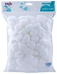 Tollyjoy Cotton Ball-100 Piece per Bag