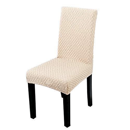 6 pezzi coprisedie con schienale, lavabile estraibile fodere coprisedia, elasticizzato fodere copripoltrona copertura della sedia, decorativo protettiva in tessuto per casa, ristorante, hotel, crema