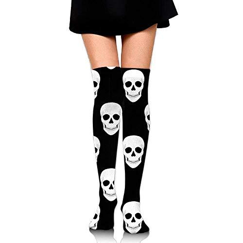 No Soy Como Tu Hohe Socken Halloween Holiday Skull Unisex Compression Socks Knee High Sock for Running, Nurses,Shin Splints,Travel,Flight,Pregnancy & Maternity.