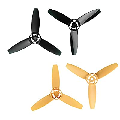 i.VALUX Main 3-Blades Propeller Rotor Props Replacement for Parrot Bebop Drone 3.0 RC Quadcopter, Yellow and Black