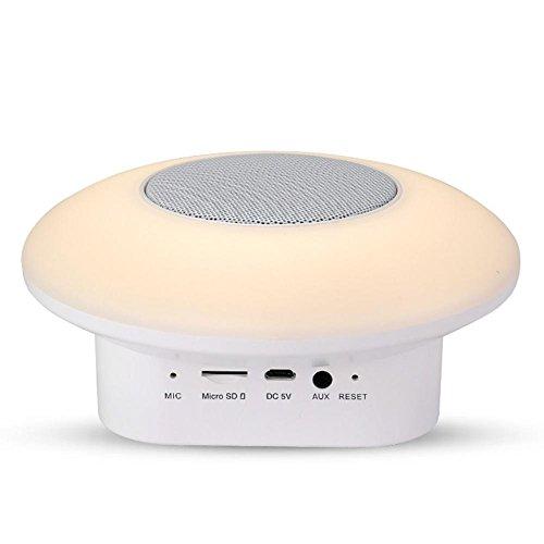 Led Nachtlicht Multifunktion Lampen,AOKARLIA Bunt Tragbar Bluetooth Redner / Radio/ Kleine Soundkarte