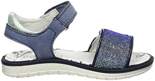 Primigi Pal 7601, Sandales  Bout ouvert fille Bleu (Navy/blue)