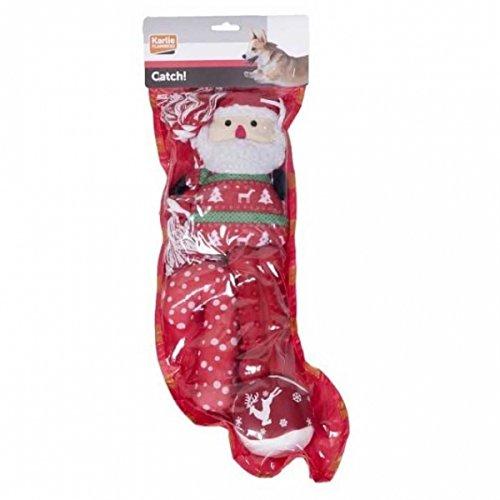 Karlie Flamingo Xmas-Geschenk Socke für Hunde – rot