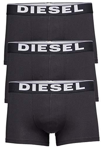 Diesel 3er Packung Rocco Boxershorts Sport Freizeit Synthetisches Material Erwachsene Kleidung Schwarz - Schwarz, L (Kleidung Diesel Männer)
