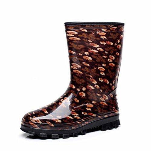SIHUINIANHUA In der Tube Lady Regenstiefel/Antirutsch-Regenstiefel/Wasserdichte Schuhe, 4, 40