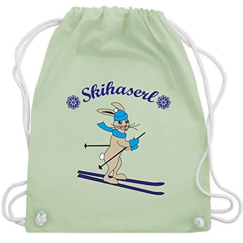 Blatt Bag Kostüm - Wintersport - Skihaserl Hase - Unisize - Pastell Grün - WM110 - Turnbeutel & Gym Bag