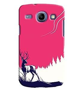 Blue Throat Deer Effct Printed Designer Back Cover/ Case For Samsung Galaxy Core