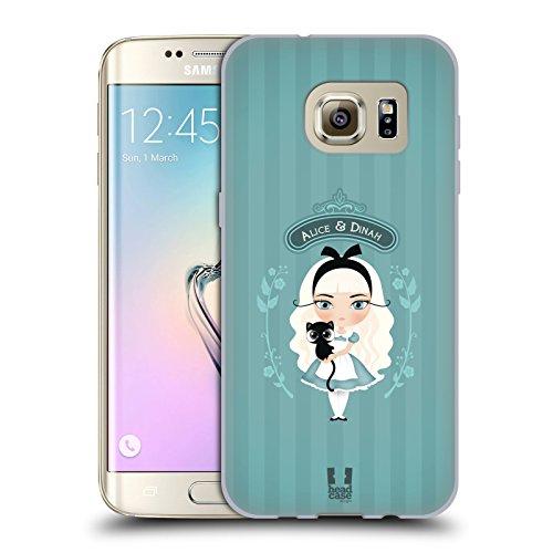 Head Case Designs Alice Et Dinah Alice Au Pays Des Merveilles Étui Coque en Gel molle pour Samsung Galaxy S7 edge