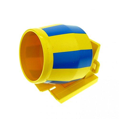 1-x-lego-duplo-lkw-aufsatz-gelb-blau-beton-zement-mischer-baustelle-auto-anhanger-4976-58471-58629pb