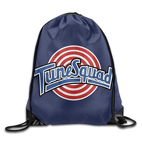 Etryrt Turnbeutel/Bedruckte Sportbeutel, Premium Drawstring Gym Bag Rucksack, Tune Squad Logo Drawstring Backpack Gym Bag -