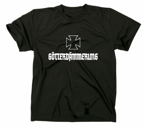 goetter Alba t shirt, Germania, Germania, seconda guerra mondiale, Ragnaroek, Nietzsche, opera, Donna Uomo, Black, XL