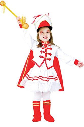 Carnevale Venizano CAV6150-6 - Kinderkostüm MAJORETTE BABY - Alter: 1-6 Jahre - Größe: 6
