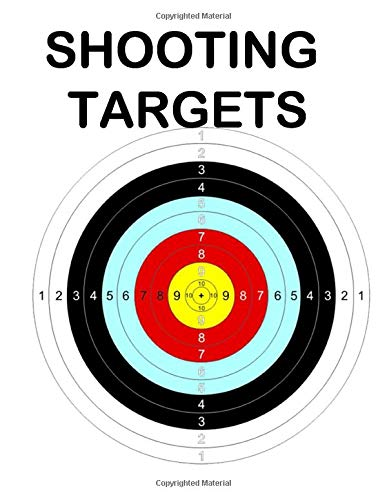 """50 Shooting Targets Colored: 8.5"""" x 11"""" Shooting Range Target or Bullseye: Great for all Firearms, Rifles, Pistols, AirSoft, BB, Archery & Pellet Guns"""