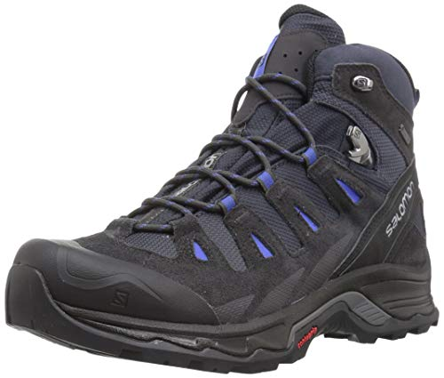 SALOMON Damen Quest Prime GTX W Trekking-& Wanderstiefel, Grau (India Ink/Phantom/Amparo Blue 000), 39 1/3 EU