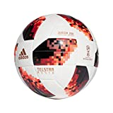 adidas Herren World Cup Knock Out J350 Fußball, White/Solar Red/Black, 5