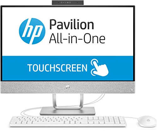 HP Pavilion (24-x051ng) All in One PC (Touchscreen, 24 Zoll, Windows 10, i7, 256GB SSD, 2TB HDD, 16GB RAM) weiß (All In One Computer Intel I7)