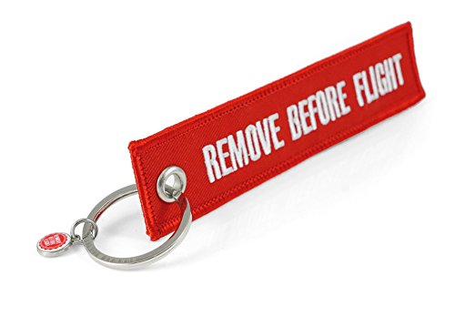 Llaveros - ' REMOVE BEFORE FLIGHT ' - *** Edición ROJO ( !! el original !! ) ***