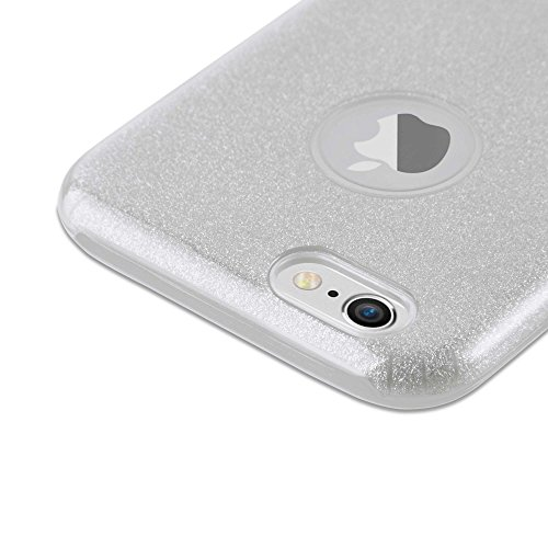 Cadorabo - Luxueuse Apple iPhone 6 / 6S / 6G Ultra Slim TPU Paillettes Etui Housse Coque Case Cover Bumper Gel (silicone) Brillant Diamant en ARGENT-POUSSIÈRE-D'ÉTOILES ARGENT-POUSSIÈRE-D'ÉTOILES