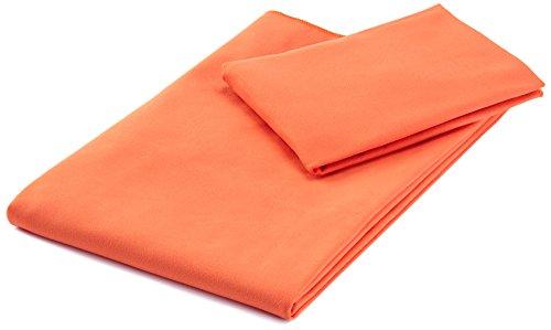 AmazonBasics - Set di asciugamani in microfibra composto da 1 asciugamano da bagno e 1 asciugamano...