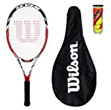 Wilson BLX Seven raqueta de tenis cubierta + + 3 pelotas