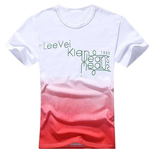 Men's O-Neck Cotton Fashion Tee Shirt red