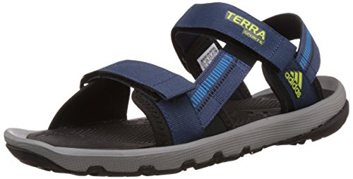 c0cf6cc2d Adidas s50575 Men S Terra Sports Rich Blue Black Blue Solar Yellow And  Silver Sandals And Floaters 6 Uk- Price in India