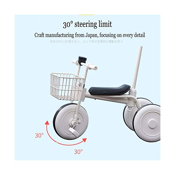 GIFT Lightweight Children's Trolley -2 In 1 Kid's Trike High Carbon Steel Detachable Push Rod 5.5kg Multi-color Optional,Pink GIFT Material: high carbon steel + ABS + EVA wheel Features: The push rod can be adjusted to height, suitable for people of different heights; the front wheel is clutched, safer, the handle is turned to 30° limit, anti-rollover Performance: high carbon steel frame, stronger and stronger bearing capacity; EVA wheel is non-slip wearable, suitable for all kinds of road conditions, good shock absorption capacity, artificial leather seat, baby ride more comfortable 8