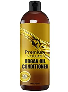 Argan Oil Organic Deep Conditioner - 473 ml Rejuvenates Heat Damaged Hair Nourishes & Prevents Breakage Sulfate Free Leave In Hair Mask - All Hair Types - Dry Damaged Colored Hair - Volumizing & Moisturizing Premium Nature