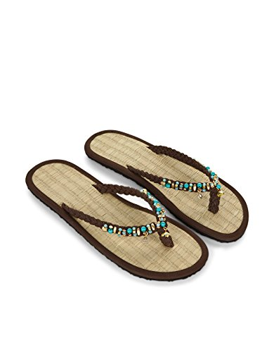 Monsoon Mint Choc Chip Seegras-Flip-Flops Braun