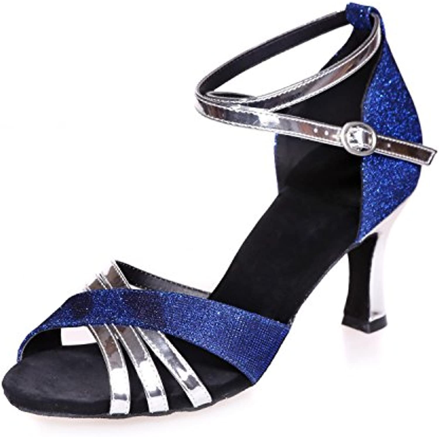 c579c6c16fc6 Elegant high high high shoes Women Dancing Shoes Latin Dancing Silk with  Black Blue Red Multicolor Brown Customizable B0778ZD63K Parent 141ebb