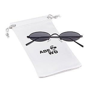 744f15a7ad ADEWU Oval Sunglasses Vintage Street Style Eyewear with Thin Metal Rim Men  Women