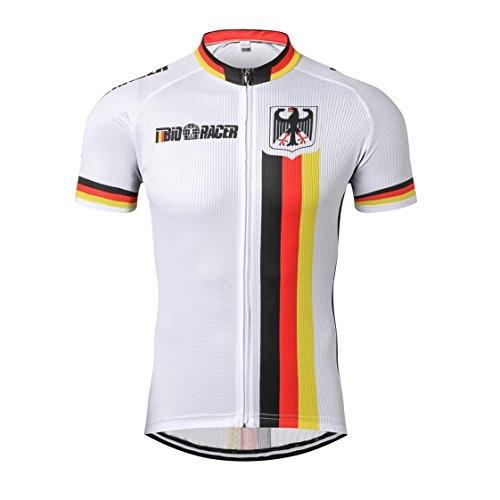 Weimostar Deutschland Radfahren Jersey Männer Radfahren Jersey Fahrradbekleidung Fahrrad top Männer Ropa Ciclismo Maillot MTB Trikot Racing Sport T-Shirts Schädel Schwarz Größe M