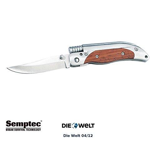 Semptec Urban Survival Technology Outdoor Messer: Taschenmesser mit 8-cm-Klinge und Magnesium-Feuerstab (Feuerstarter)