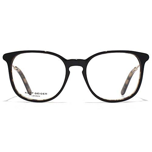 Kurt Geiger Sofie BCBG acétate tour lunettes en noir sur écaille de tortue KGS016-BLK clear