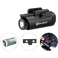 OLIGHT PL-1 II VALKYRIE - Lampe Pistolet Puissante 450 Lumens LED Cree XP-L CW, Appliquable pour Pistolet Fusil à Armes MIL-STD-1913 et Glock, Application de la Loi, Batterie CR123A 1600mAh