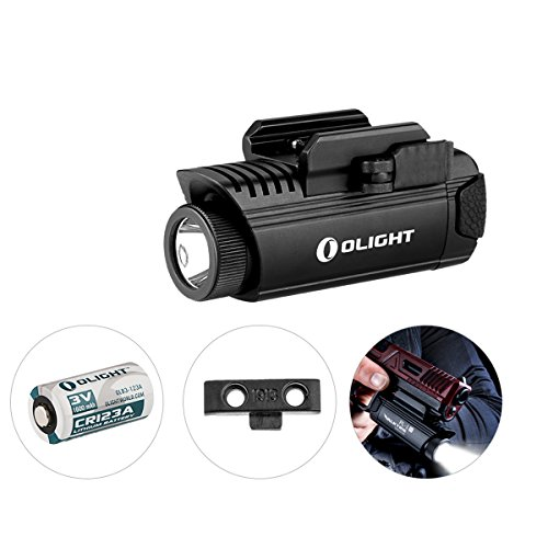 OLIGHT PL-1 II VALKYRIE - Lampe Pistolet Puissante 450 Lumens LED Cree XP-L CW, Appliquable pour Pistolet Fusil à Armes MIL-STD-1913 et Glock, Application de la Loi, Batterie CR123A 1600mAh OLIGHT