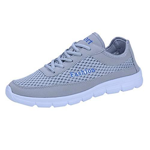 AIni Herren Schuhe,2019 Neuer Heißer Mode Beiläufiges Schuhe Netzschuhe Freizeit Sportschuhe sind im Sommerschuh Atmungsaktiv Partyschuhe Freizeitschuhe(42,Weiß)
