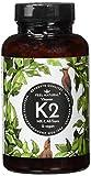 Vitamin K2 MK7-365 Kapseln. Hochdosiert mit 200µg (mcg) je Kapsel. >99% All-Trans, aus Fermentation. Aktionspreis. Laborgeprüft, ohne Zusätze wie Magnesiumstearat. Vegan, hergestellt in Deutschland