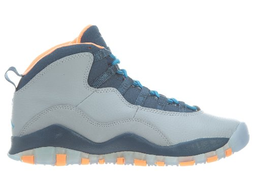 Nike Jungen Air Jordan 10 Retro Bg Turnschuhe wolf grey dark powder blue new slate atomic 026