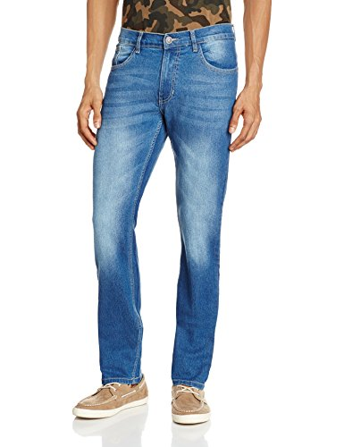 Newport Men's Slim Fit Jeans (8907542042937_268726443_32W x 34L_Blue Super Stone)  available at amazon for Rs.599
